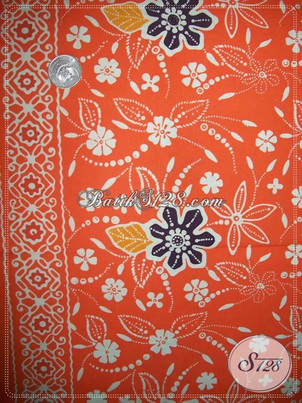Kain Batik Motif Floral,Batik Handmade Asli Batik Solo [KCC734]