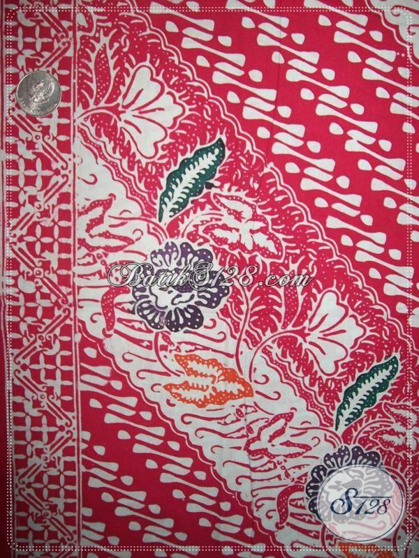 Kain Batik Kombinasi Parang Dan Bunga,Bahan Batik Untuk Blus BAtik Kerja [KCC740]