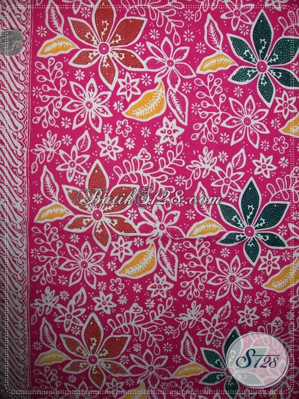 kain batik warna orange cerah nyaman dipakai asli batik