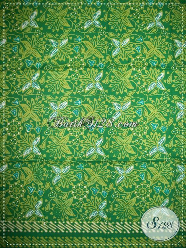 Kain Batik Handmade Warna Hijau Cerah Asli Batik Solo
