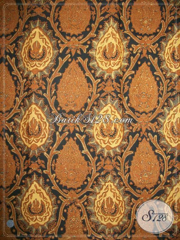 Batik Bokor Latar Ireng, Bahan Batik Lawasan Keraton Solo, Dibuat Sejak PB IX [KJ016AM]
