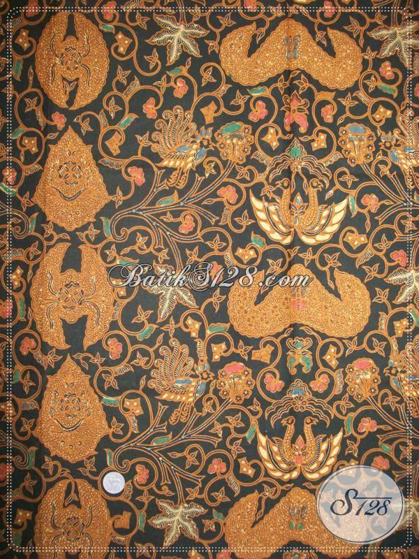 Batik Lawasan Klasik Wahyu Tumurun Latar Ireng, Batik Jawa Klasik [KJ025EAM-240x110cm]