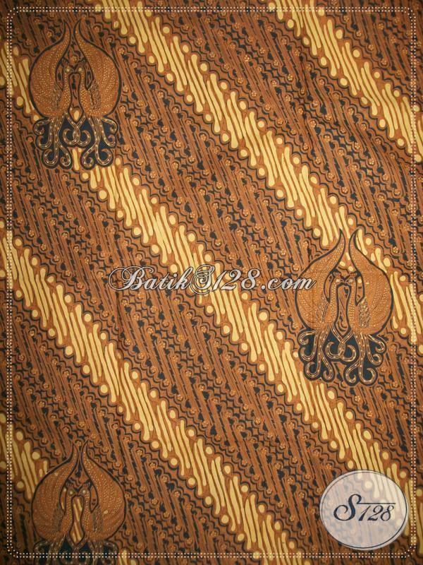 Butik Batik Klasik Solo Indonesia, Sedia Kain Batik Lawasan Sogan Motif Parang Gondosuli Tidak Luntur