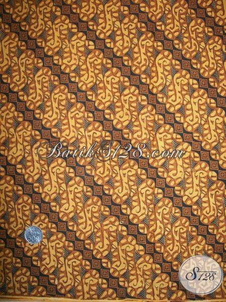 Batik Solo Klasik Parang Kusumo Elegan, Kain Batik Klasik Lawasan Bahan Jarik Dan Busana Adat Jawa Tengah