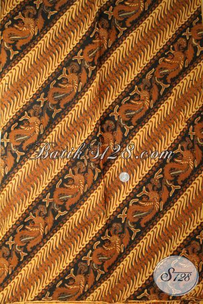 Kain Jarik, Bahan Batik Klasik Corak Parang Kroto, Batik Solo Classy [KJ041AM-240×110 cm]
