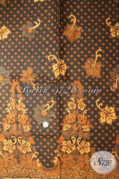 Batik Halus Corak Bagus, Bahan Jarik Klasik Motif Truntum Giu Anggrek [KJ044AM-240×110 cm]