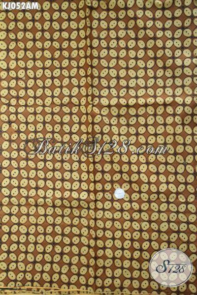 Jual Batik Bahan Busana Elegan Motif Klasik, Batik Solo Kwalitas Bagus Motif Kawung Batu Kombinasi Tulis Cocok Banget Untuk Busana Formal