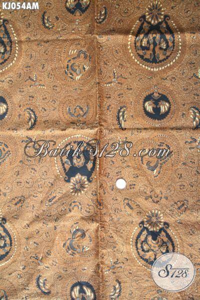 Batik Klasik Khas Solo Motif Mewah, Motif Ratu Ratih, Kain Batik Lawasan Proses Kombinasi Tulis Bahan Jarik Dan Busana Formal Tampil Elegan Dan Berwibawa [KJ054AM-240×110 cm]