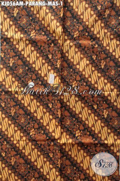 Batik Klasik Parang Mas Khas Jawa Tengah, Kain Batik Kombinasi Tulis Elegan Bahan Pakaian Formal Untuk Tampil Elegan Dan Terlihat Mewah [KJ056AM-240 x 110 cm]