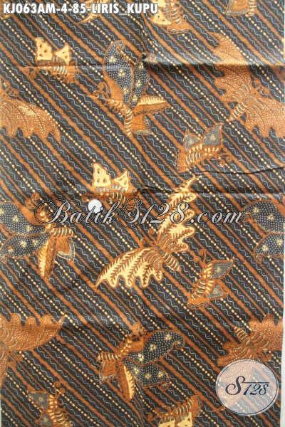 Batik Klasik Bahan Jarik, Batik Lawasan Motif Liris Kupu Proses Kombinasi Tulis Harga 85K [KJ063AM-240x105cm]