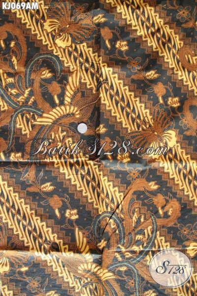 Batik Klasik Elegan Dan Berkelas, Batik Halus Kombinasi Tulis Bahan Jarik Harga 85K [KJ069AM-240x105cm]