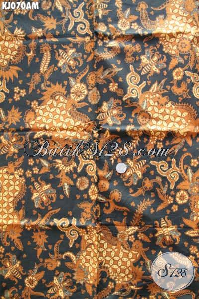 Batik Halus Motif Mewah, Kain Batik Lawasan Kombinasi Tulis Untuk Bahan Jarik Nan Istimewa [KJ070AM-240x105cm]