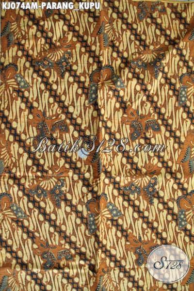 Pusat Batik Klasik Solo Online, Sedia Kain Batik Motif Parang Kupu Kwalitas Halus Harga Murmer Proses Kombinasi Tulis [KJ074AM-240x105cm]