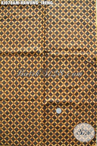 Agen Kain Batik Murah Jual Bahan Jarik Istimewa Proses Kombinasi Tulis Motif Klasik Kawung Ireng Harga 85K [KJ078AM-240x105cm]