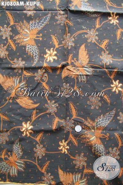 Agen Kain Batik Solo Sedia Batik Bahan Jarik Motif Kupu Kwalitas Istimewa Dengan Harga Biasa Proses Kombinasi Tulis [KJ080AM-240x105cm]