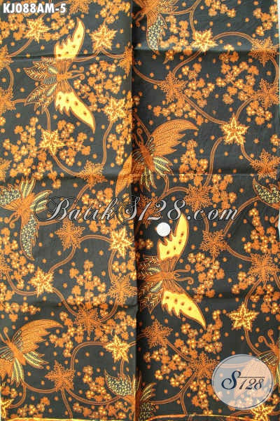 Batik Bahan Jarik Istimewa, Batik Klasik Halus Kombinasi Tulis Asli Buatan Solo [KJ088AM-240x105cm]