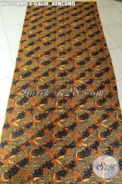 Batik Klasik Bahan Jarik, Kain Batik Mewah Proses Kombinasi Tulis Kwalitas Istimewa Motif Galih Kencono Harga Terjangkau [KJ089AM-240x105cm]
