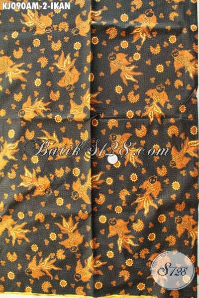 Batik Jarik Kombinasi Tulis Motif Ikan, Batik Halus Nan Istimewa, Cocok Juga Untuk Busana Resmi