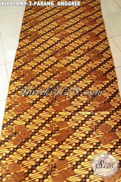 Kain Jarik Motif Parang Anggrek, Batik Klasik Istimewa Kombinasi Tulis Cocok Buat Acara Adat Jawa Tangah [KJ091AM-240x105cm]