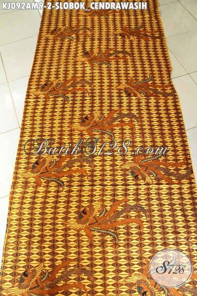 Batik Solo Klasik Bahan Jarik, Batik Elegan Mewah Harga Terjangkau Buatan Solo Asli Motif Slobok Cendrawasih Proses Kombinasi Tulis Hanya 85K [KJ092AM-240x105cm]
