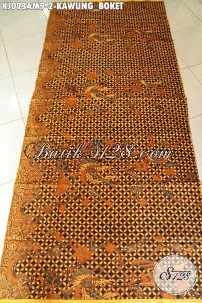 Batik Klasik Bahan Jarik Motif Kawung Boket, Batik Halus Nan Istimewa Proses Kombinasi Tulis Asli Solo