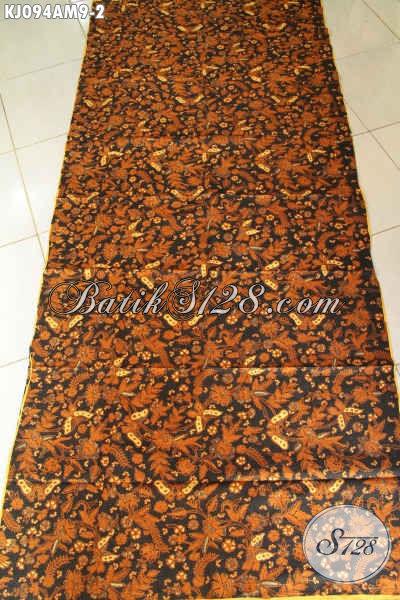 Jual Produk Batik Jawa Tengah Online, Sedia Kain Jarik Halus Motif Klasik Proses Kombinasi Tulis Harga 85 Ribu Saja [KJ094AM-240x105cm]