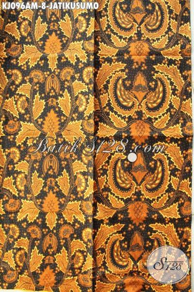Sedia Kain Batik Jarik Motif Jatikusumo, Batik Klasik Kombinasi Tulis Bahan Halus, Pas Untuk Acara Adat Jawa Tengah [KJ096AM-240x105cm]