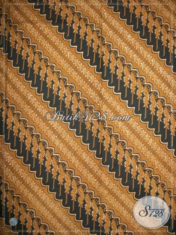 Jual Batik Halus Motif Modang Seling Klithik, Bahan Batik Untuk Kemeja Blus Dress dll [KJ402GO]