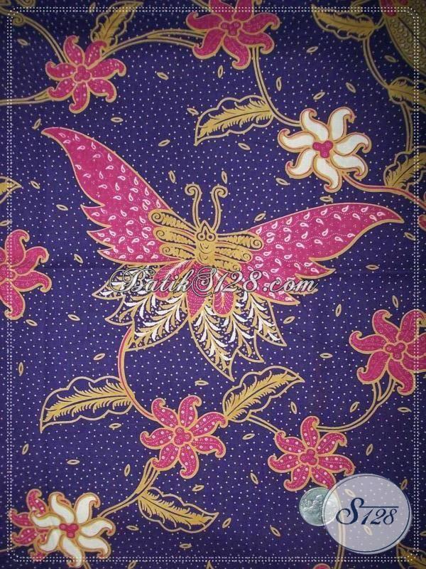 Kain Batik Halus Dari Batik Solo,Motif Kupu Dan Cocok Dipakai Untuk Blus Batik Wanita [KP679]
