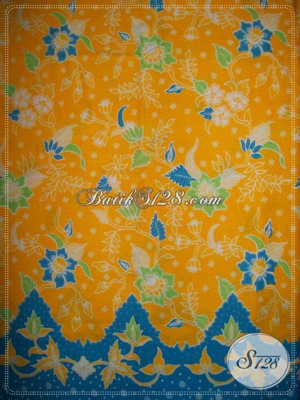 Motif Batik Floral Dijual Di Toko Online Solo,Harga Batik Floral Murah Dan Elegan [KP708]