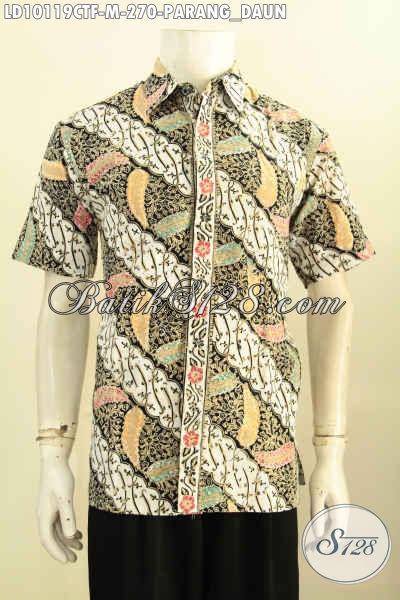 Model Baju Batik Klasik Lelaki Muda Size M, Hem Batik Mewah Full Furing Lengan Pendek, Pas Buat Kerja Kantoran Tampil Macho
