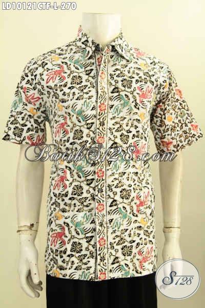 Busana Batik Lengan Pendek, batik Cap Tulis Motif Unik Dan Keren