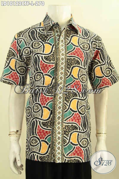 Model Baju Batik Pria Buat Kerja, Busana Batik Elegan Untuk Acara Resmi Motif Klasik Berpadu Warna Trendy Daleman Full Furing Harga 270 Ribu, Size L