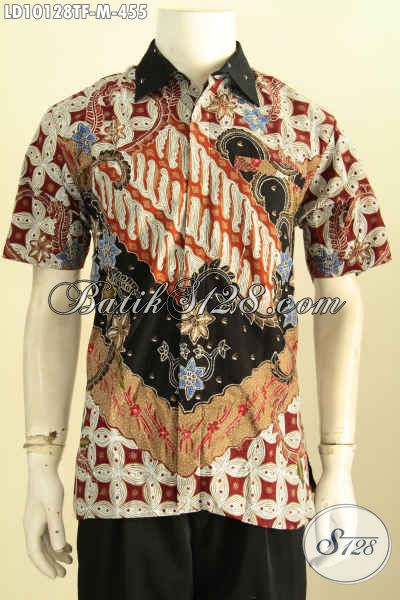 Model Baju Batik Pria Premium Lengan Pendek Di Lengkapi Furing, Penampilan Lebih Bergaya, Size M
