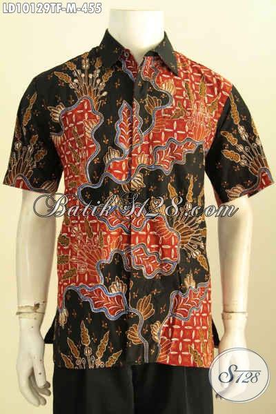 Produk Kemeja Batik Solo Mewah Lengan Pendek Halus Full Furing Motif Klasik Untuk Tampil Istimewa, Size M
