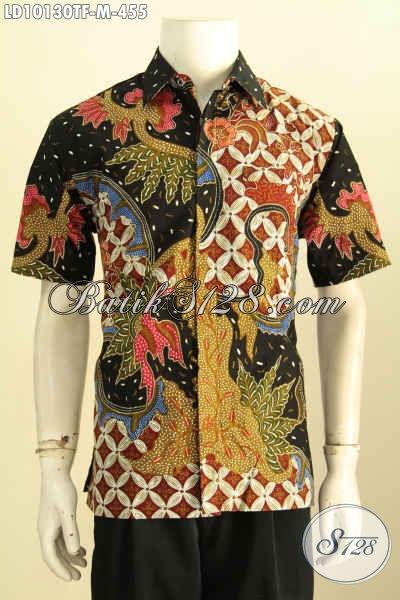 Model Baju Batik Pria 2019, Busana Batik Atasan Untuk Cowok Bahan Halus Premium Motif Elegan Proses Tulis Daleman Di Lengkapi Furing Harga 455K [LD10130TF-M]
