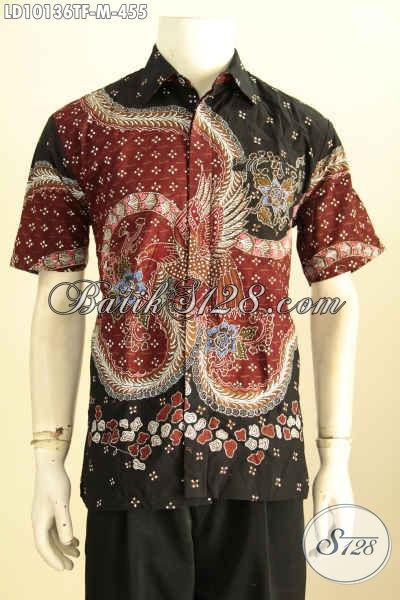 Model Baju Batik Pria Size M, Kemeja Lengan Pendek Premium Full Furing Motif Mewah Tulis Asli Hanya 400 Ribuan, Size M