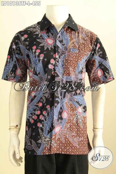 Model Baju Batik Premium Untuk Menunjang Penampilan Makin Sempurna, Hem Batik Tulis Mewah Full Furing Lengan Pendek, Asli Dari Solo [LD10138TF-L]