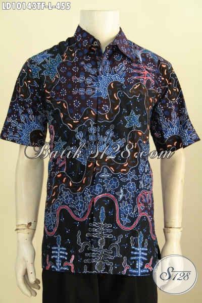 Model Baju Batik Pria Untuk Penampilan Lebih Sempurna Trend 2017, Busana Batik Solo Elegan Kwalitas Bagus Hanya 455K, Size L