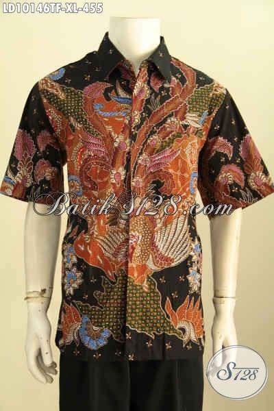 Model Baju Batik Pria Karir, Pakaian Batik Solo Elegan Bahan Adem Proses Tulis Motif Bagus Daleman Full Furing Hanya 455 Ribu [LD10146TF-XL]