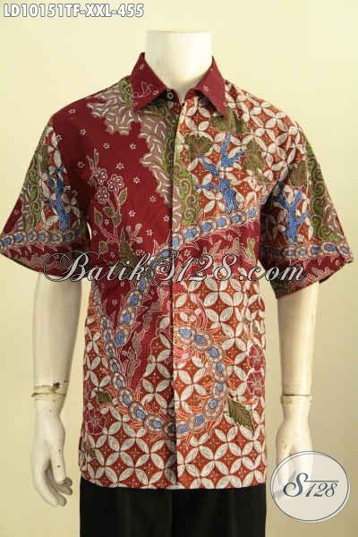 Model Baju Batik Solo Premium Spesial Untuk Lelaki Gemuk, Hem Batik Jumbo Size XXL Motif Tulis Asli Daleman Full Furing Hanya 400 Ribuan