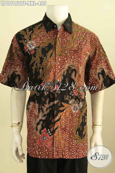 Model Baju Batik Pria Gemuk, Kemeja Batik Solo Istimewa Size XXL Lengan Pendek Bahan Halus Kwalitas Bagus, Penampilan Lebih Mempesona