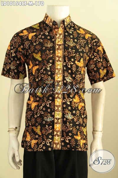 Model Baju Batik Kemeja Pria Modern Klasik, Pakaian Batik Pria Muda Yang Membuat Penampilan Tampan Mempesona, Size M