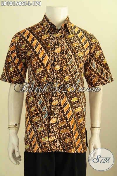 Batik pria keren motif klasik gaul proses batik bakaran
