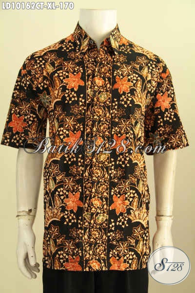 Model Baju Batik Lengan Pendek Size XL, Pakaian Batik Kerja Kwalitas Istimewa Motif Trendy Cap Tulis Harga 170 Ribu Rupiah