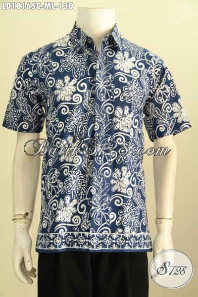 Model Baju Batik Keren Cocok Untuk Kerja Dan Jalan-Jalan, Hem Batik Motif Trendy Proses Cap Kwalitas Bagus Harga 130 Ribuan, Size M – L