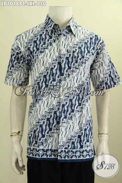Model Baju Batik Cowok Tren Motif 2017 Klasik Bahan Halus Proses Cap, Spesial Untuk Pria Dewasa Tampil Mempesona, Size L – XL