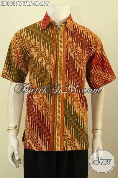 Model Baju Batik Solo Proses Cap Tulis Untuk Tampil Berwibawa, Hadir Dengan Motif Klasik Lengan Pendek Full Furing Harga 200 Ribuan, Size M