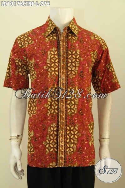 Model Baju Batik Pria Masa Kini, Hem Batik Solo Cap Tulis Full Furing Motif Bagus Hanya 200 Ribuan, Size L