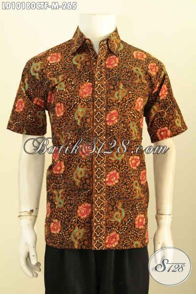 Model Baju Batik Pria Terbaru Lebih Modis Dan Keren, Pakaian Batik Elegan Full Furing Motif Kekinian Proses Cap Tulis Hanya 265K [LD10180CTF-M]